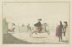 Plate I, from the series Colección de las principales suertes de una corrida de toros (Collection of the Main Actions in a Bullfight)