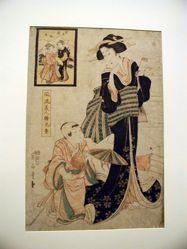 Mother and Child (Furyu Bijin-e Kyodai)