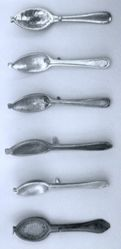 Half a Pewter Spoon Mold