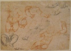 A Sheet of Studies of a Young Child