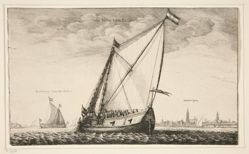 The Brussels Packet, from Navium varie figurae, number nine of a series of twelve etchings of  Dutch Ships