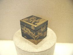 Miniature Lacquer Boxes with Pine and Plum Design