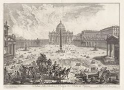 Veduta della Basilica, e Piazza di S. Pietro in Vaticano (View of the Basilica, and Piazza of Saint Peter's in the Vatican), from Vedute di Roma (Views of Rome)