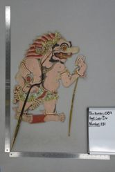 Shadow Puppet (Wayang Kulit) of Buta Rambut Geni, from the set Kyai Drajat