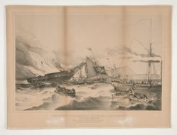 Destruction of the American Packet Ship Ocean Monarch on the 24th August 1848