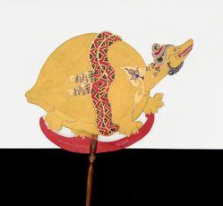 Shadow Puppet (Wayang Kulit) of Bedawang Anala, from the consecrated set Kyai Nugroho