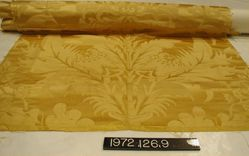 Yellow silk damask