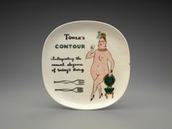 "Advertising plate ""Contour"" pattern"
