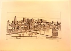 College Town from Intaglio Yale, Etchings 2008-2012