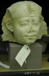 Head from a statue of a sphinx