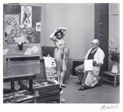 Matisse Drawing Nude Model at Villa d'Alésia