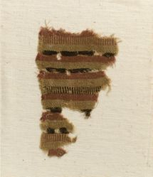 Fragment with yellow, red, brown bands