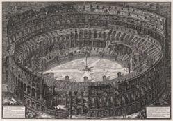 Veduta dell'Anfiteatro Flavio detto il Colosseo (View of the Flavian Amphitheater Called the Colosseum), from Vedute di Roma (Views of Rome)