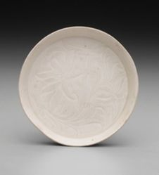Dish with Incised Lotus Pattern