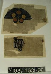 Fragment of plain cloth with tapestry inset.