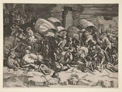 La bataille au coutelas (Battle with a Cutlass)