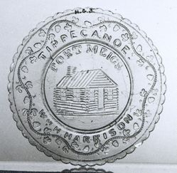 Cup Plate Depicting Fort Meigs, Ohio