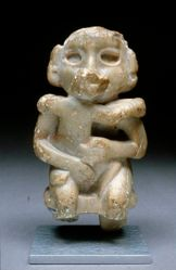 Seated ruler figure