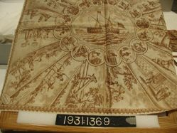 "Printed handkerchief, ""American Sports"""