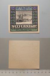 80 Heller from Mitterndorf, Notgeld