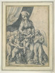 Madonna with St. John the Baptist and Two Angels
