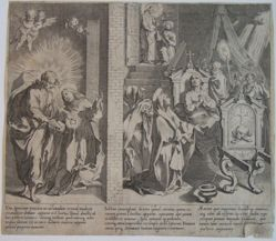 Plate 6, from the series, Life and Miracles of Saint Catherine of Siena