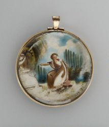 Memorial locket for Mrs. Lucy Carew Tillinghast (1783-1800)