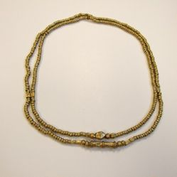 Necklace with Double Strands of Beads