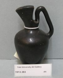 Black-glazed oinochoe