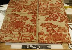 Hunting near Windsor Castle, printed cotton