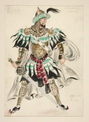 Costume sketch for Raymonda, (by Glazonnet), Abderechman (N. Zverof), #45