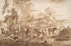 Cattle in a watering place