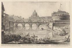 Veduta del Ponte e Castello Sant'Angelo (View of the Bridge and Castel Sant' Angelo), from Vedute di Roma (Views of Rome)