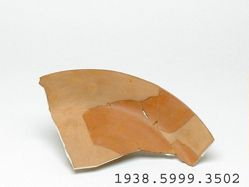 Redware plate sherd