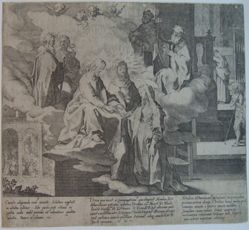 Plate 3, from the series, Life and Miracles of Saint Catherine of Siena