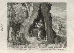Johannicus, number 5 of 25 numbered plates from Trophaeum Vitae Solitariae (Male Hermits)