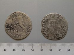 Coin of Philip II, King of Spain from Unknown