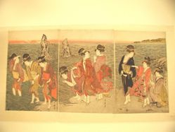 Sunrise at Futami-ga-Ura (triptych)