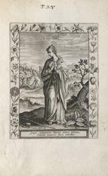 Saint Cointha, 1 of 25 plates from the series Martyrologium Sanctarum Virginum (Female Martyr Saints)