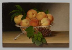 Still Life: Basket of Peaches