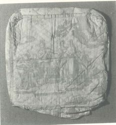 Cushion Cover, depicting the a scene from the Histoire de Balisaire