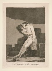 El amor y la muerte (Love and Death), pl. 10 from the series Los caprichos