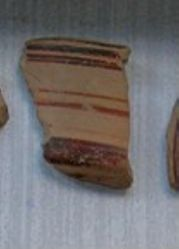 Mycenaean Sherd from three handled pyxis