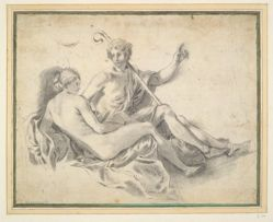 Shepherd and Reclining Female Nude