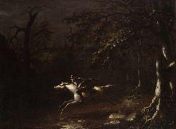Ichabod Crane Flying from the Headless Horseman