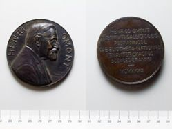 Bronze Medal from France Honoring Henri Omont
