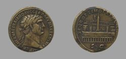 Sestertius of Trajan, Emperor of Rome from Rome
