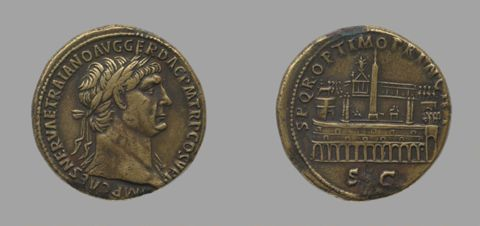 Sestertius of Trajan, Emperor of Rome from Rome