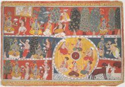 Vishnu in a forest