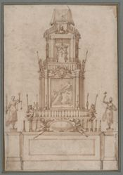Design for a Catafalque for Cosimo I de' Medici